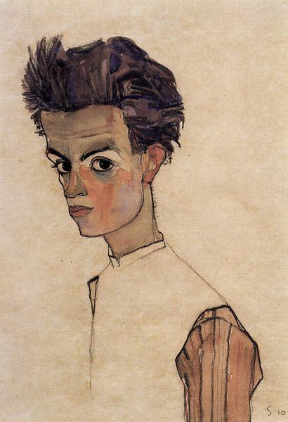 Egon Schiele. Autoportrait 1910