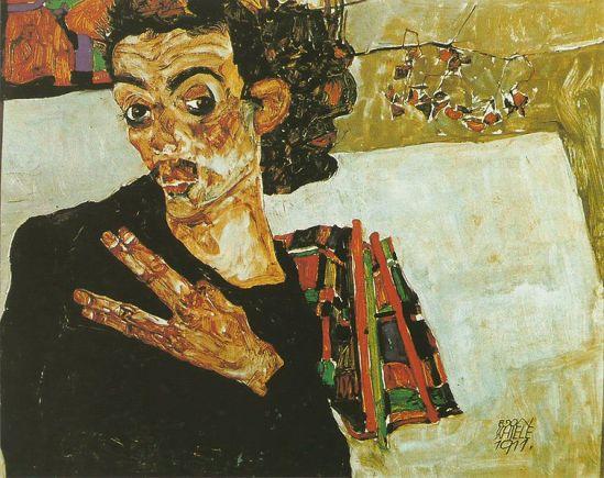 Egon Schiele. Autoportrait 1911