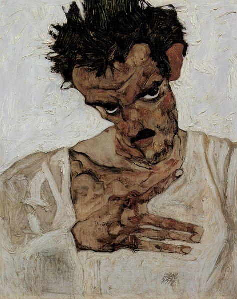Egon Schiele. Autoportrait 1912