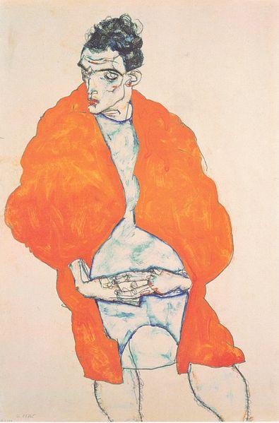 Egon Schiele. Autoportrait 1914