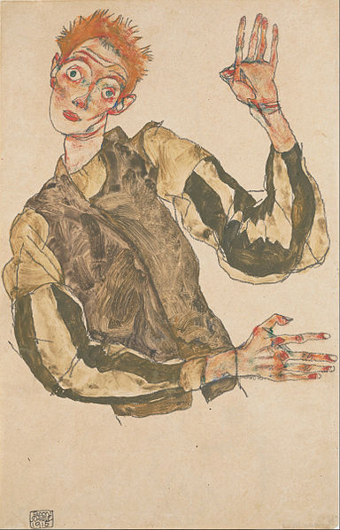 Egon Schiele. Autoportrait 1915