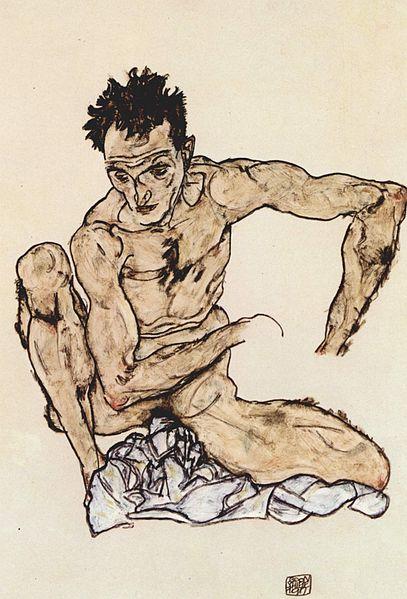 Egon Schiele. Autoportrait 1917