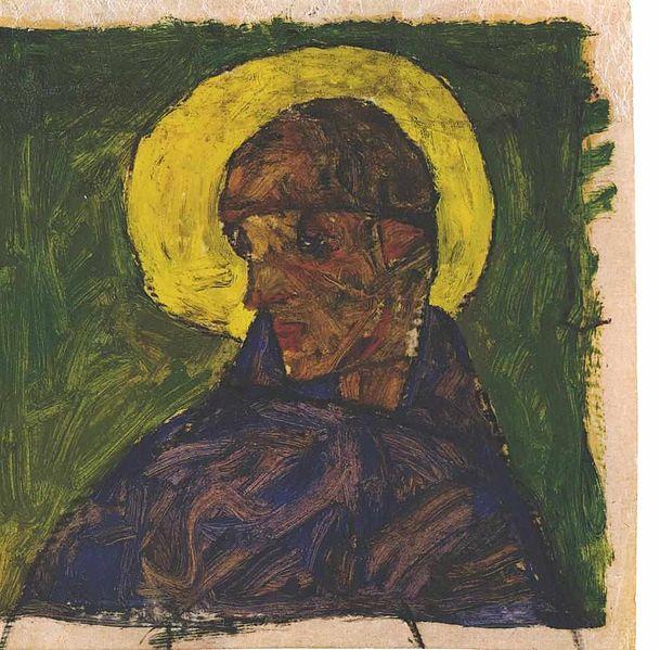 Egon Schiele. Autoportrait en saint