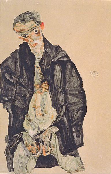 Egon Schiele. Autoportrait1 1911