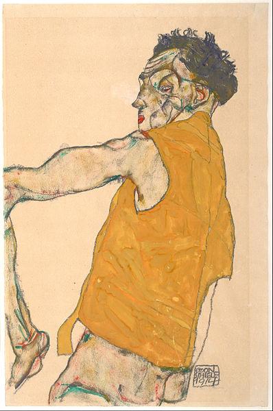 Egon Schiele. Autoportrait1 1914