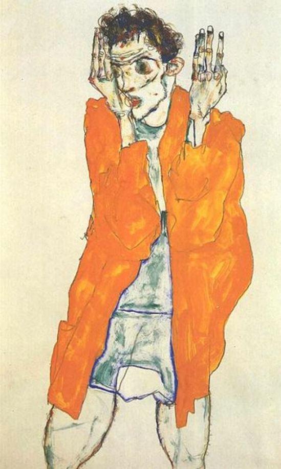 Egon Schiele. Autoportrait17