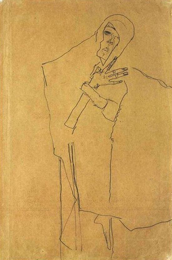 Egon Schiele. Autoportrait19