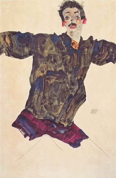 Egon Schiele. Autoportrait3 1911