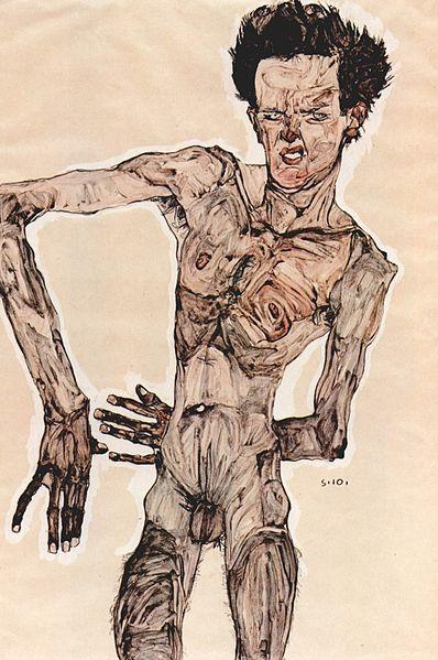 Egon Schiele. Autoportrait5 1910