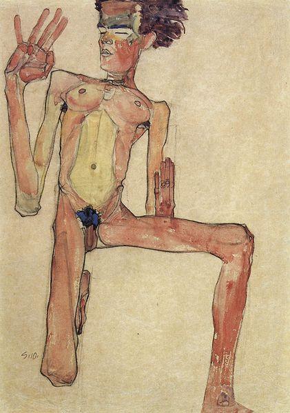 Egon Schiele. Autoportrait9 1910