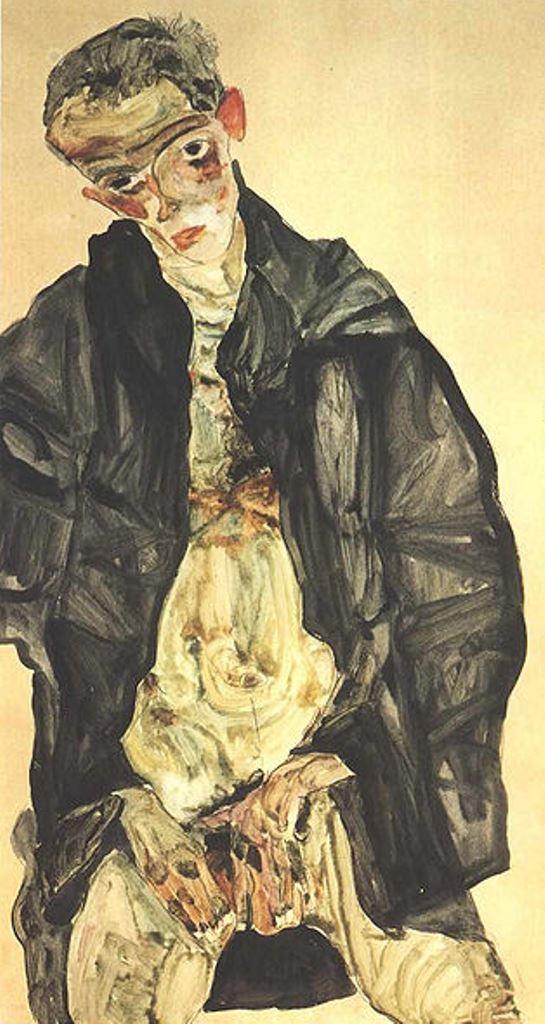 Egon Schiele. Autoportrait9