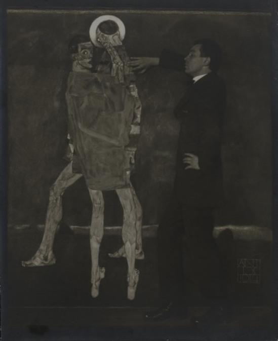 Egon Schiele by Anton Josef Trcka 1914 via Le journal de la photographie