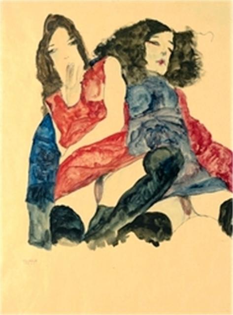 Egon Schiele. Deux femmes 1911