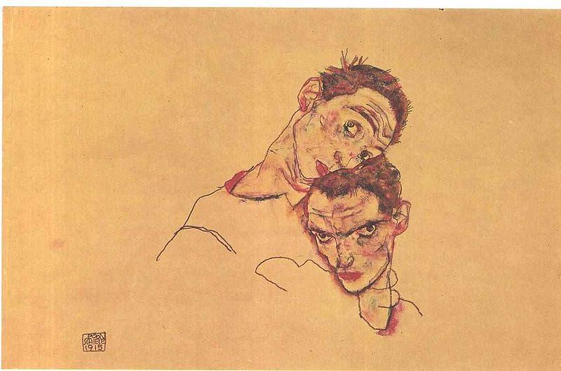 Egon Schiele. Double autoportrait 1915