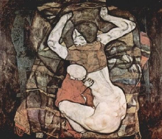 Egon Schiele. Jeune mère 1914