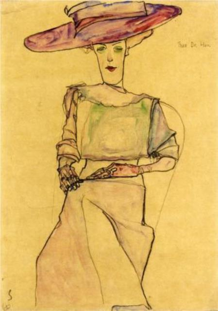 Egon Schiele.Portrait of Madame Dr. Horak 1910