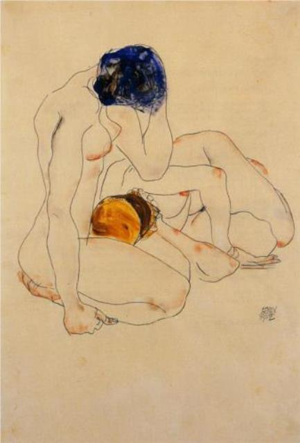 Egon Schiele. Two friends 1912