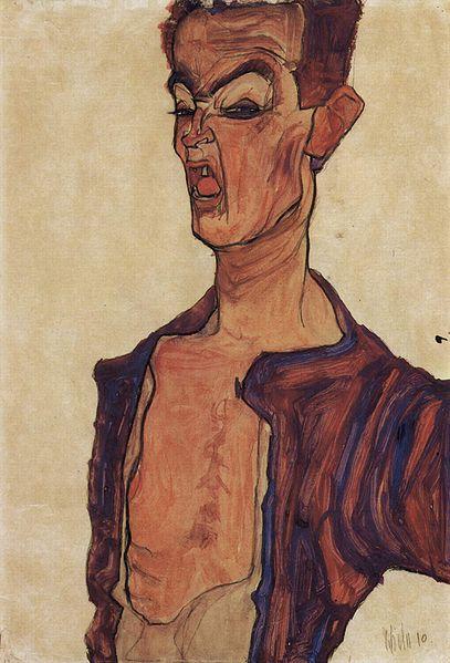 Egon Schiele11. Autoportrait 1910