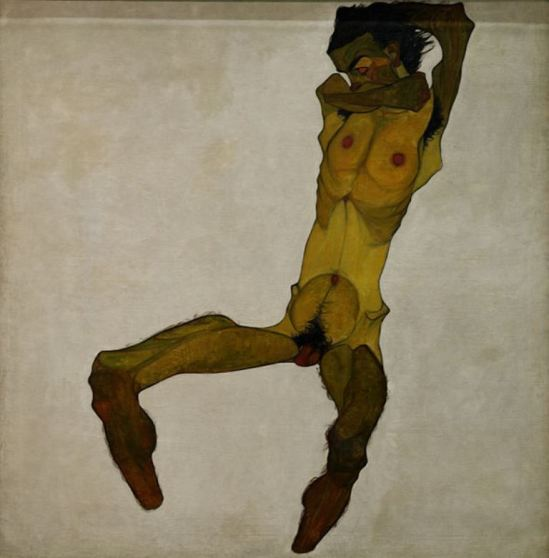 Egon Schiele121. Autoportrait 1910