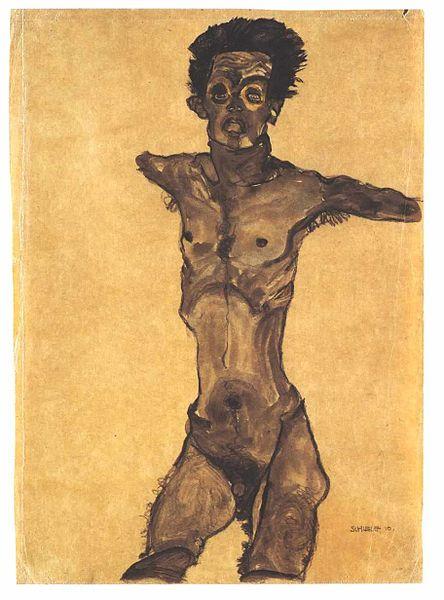 Egon Schiele13 Autoportrait 1910