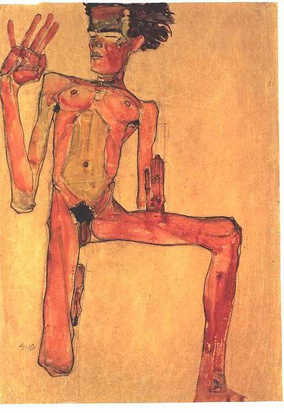 Egon Schiele14. Autoportrait 1910