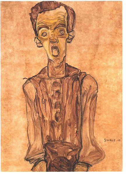 Egon Schiele15. Autoportrait 1910
