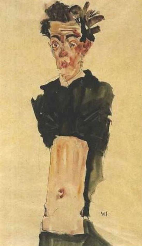 Egon Schiele15. Autoportrait 1911
