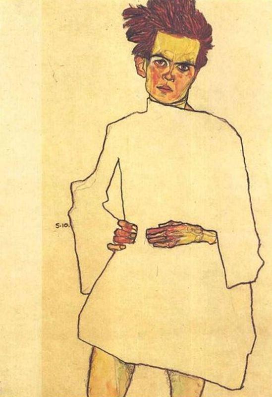 Egon Schiele18. Autoportrait 1910