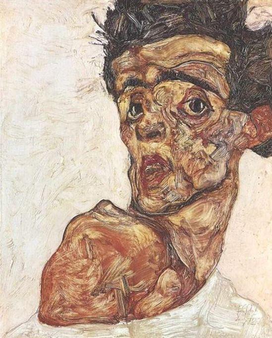 Egon Schiele19. Autoportrait 1912