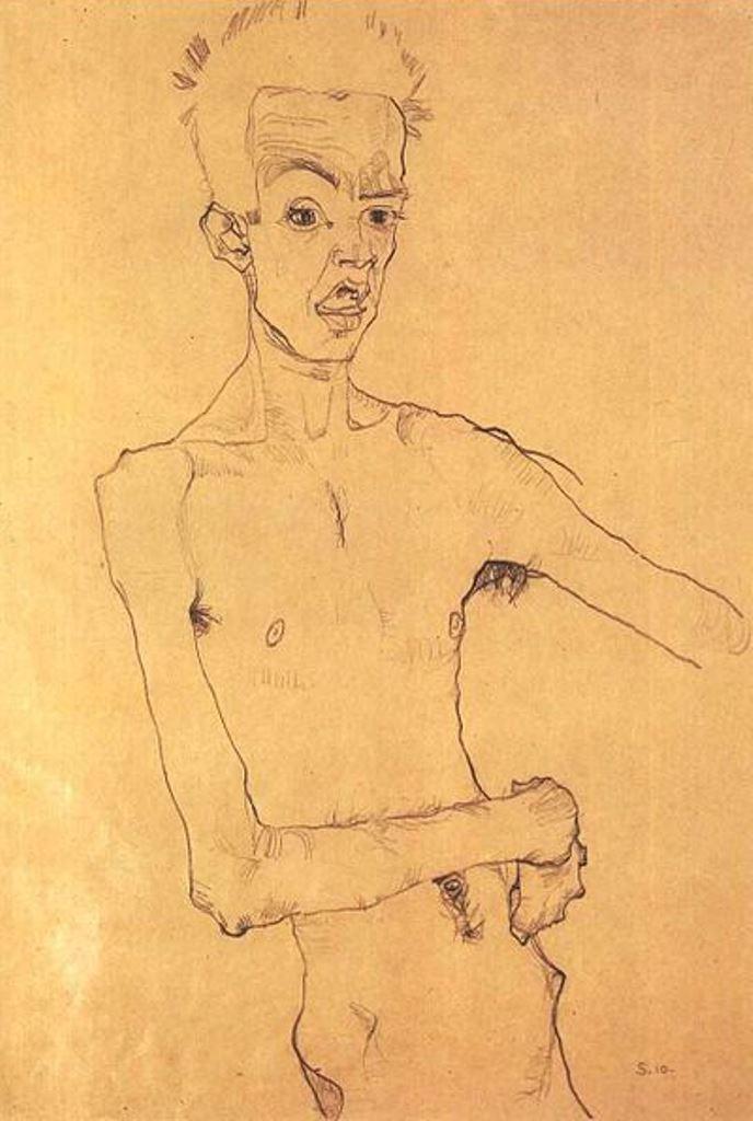 Egon Schiele20. Autoportrait 1910