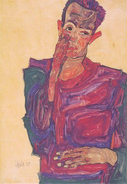 Egon Schiele3. Autoportrait 1910