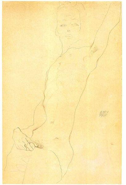 Egon Schiele3. Autoportrait 1911
