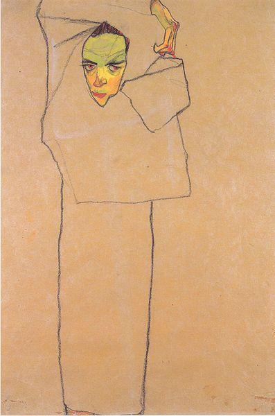 Egon Schiele4. Autoportrait 1910
