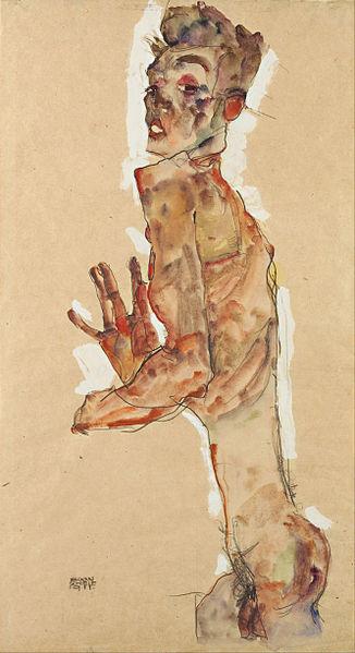 Egon Schiele4. Autoportrait 1911