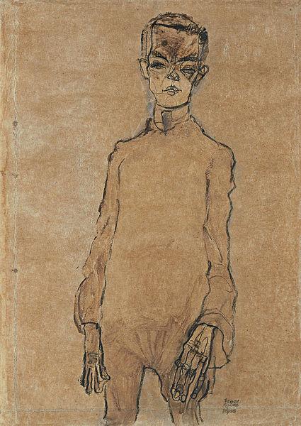 Egon Schiele5. Autoportrait 1910