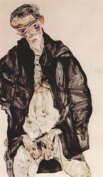 Egon Schiele5. Autoportrait 1911