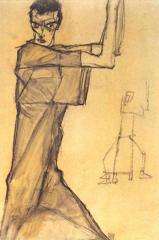 Egon Schiele6. Autoportrait 1913