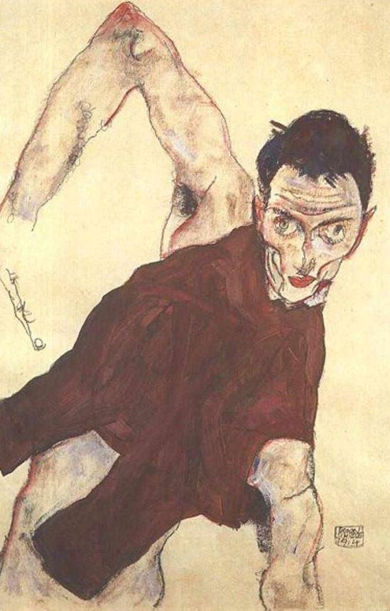 Egon Schiele6. Autoportrait 1914