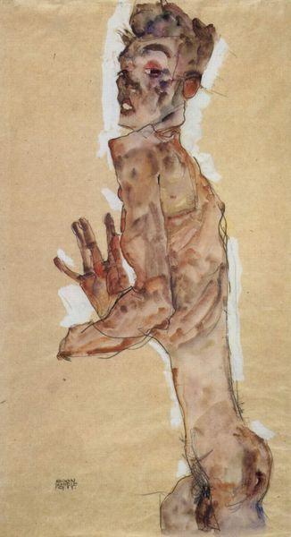 Egon Schiele7. Autoportrait 1911