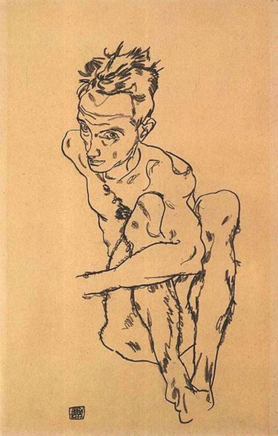 Egon Schiele7. Autoportrait 1917