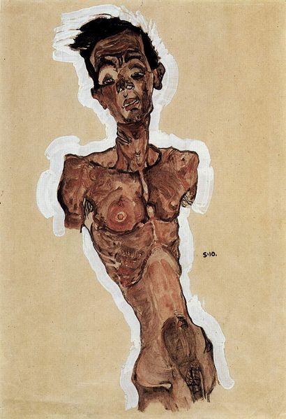 Egon Schiele8. Autoportrait 1910