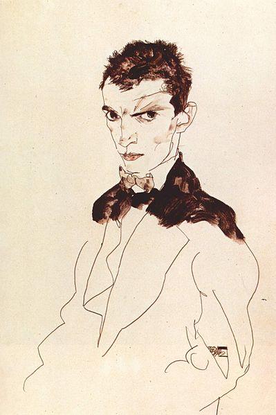 Egon Schiele8. Autoportrait 1912