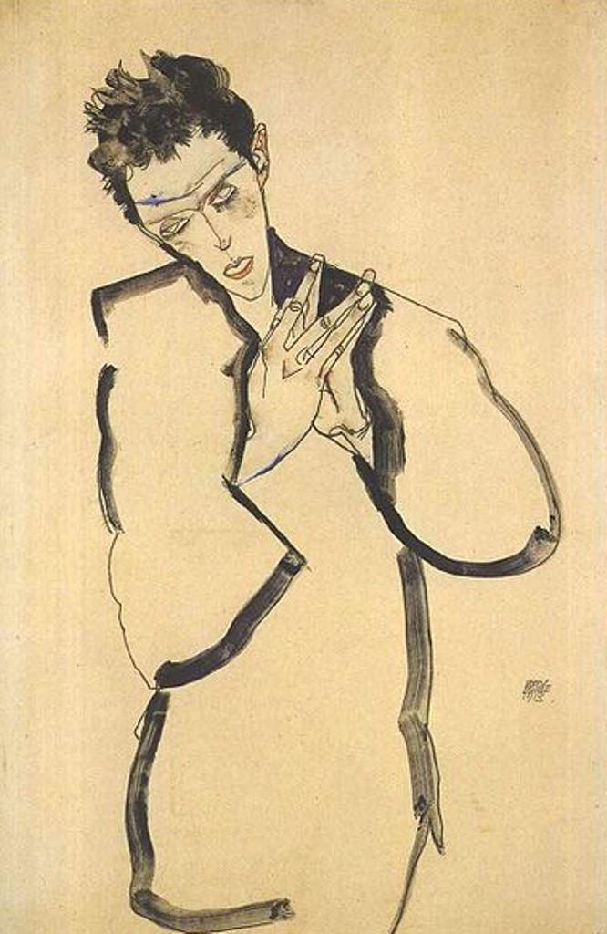 Egon Schiele8. Autoportrait 1913