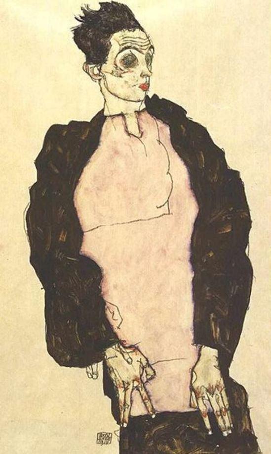 Egon Schiele9. Autoportrait 1914