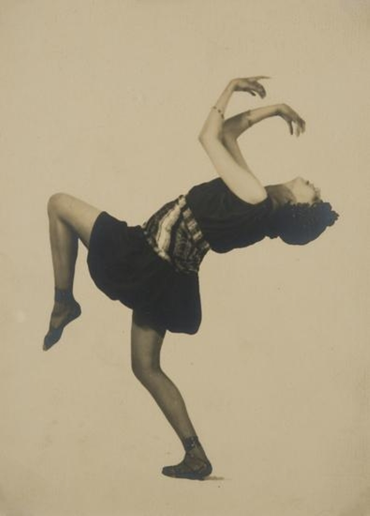 František Drtikol. Ballet dancer on a white back-cloth, 1922. Via mutualart
