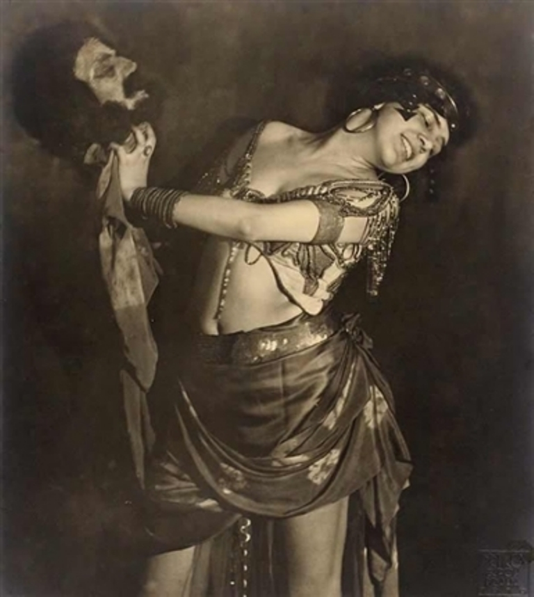 Frantisek Drtikol. Ervina Kupferova as Salome with the Head of John the Baptist Via artnet