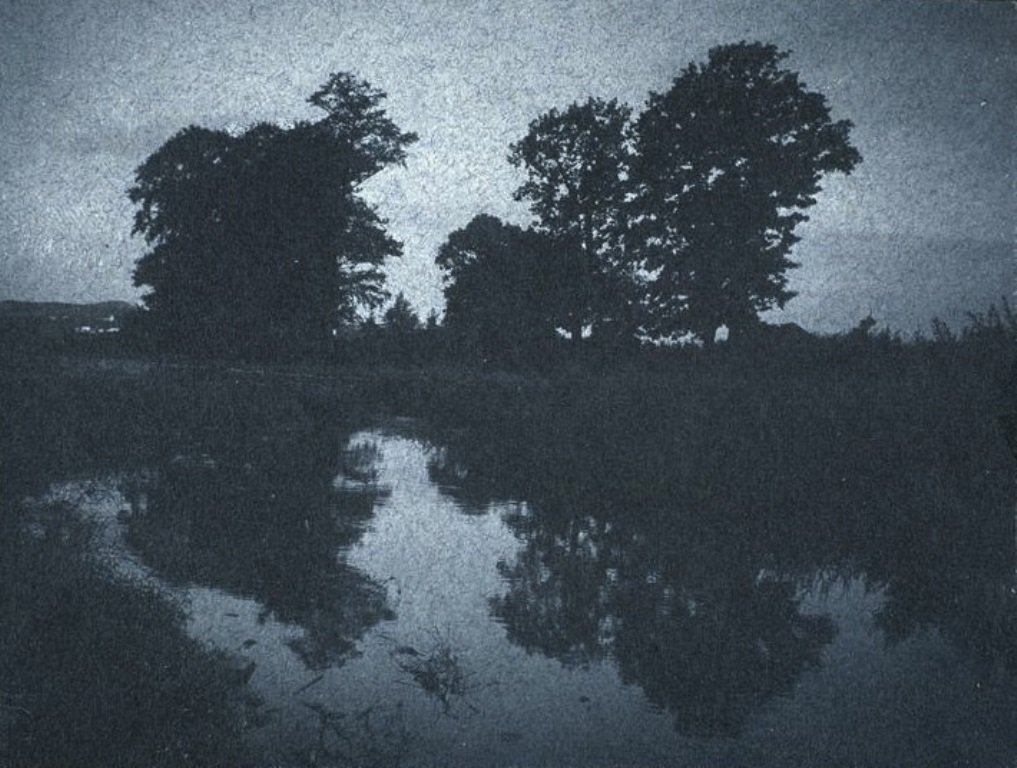 Frantisek Drtikol. Trees reflected in the water c. 1901-1907
