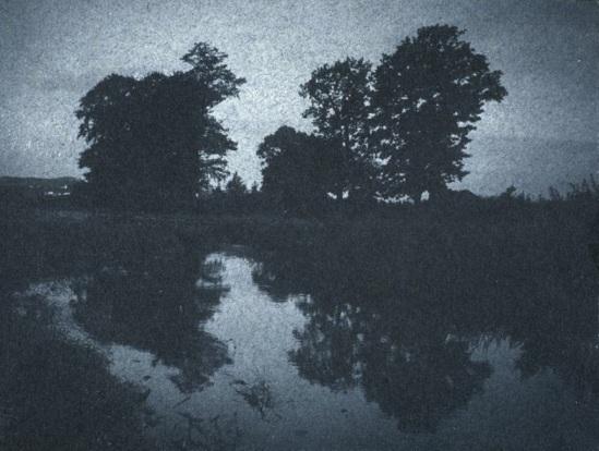 Frantisek Drtikol. Trees reflected in the water c. 1901-1907