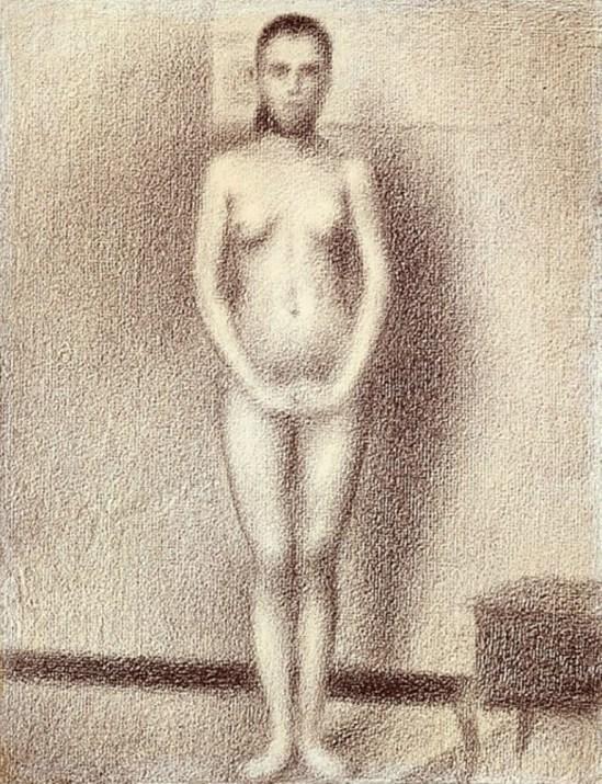 Georges Seurat. Etude pour les poseuses