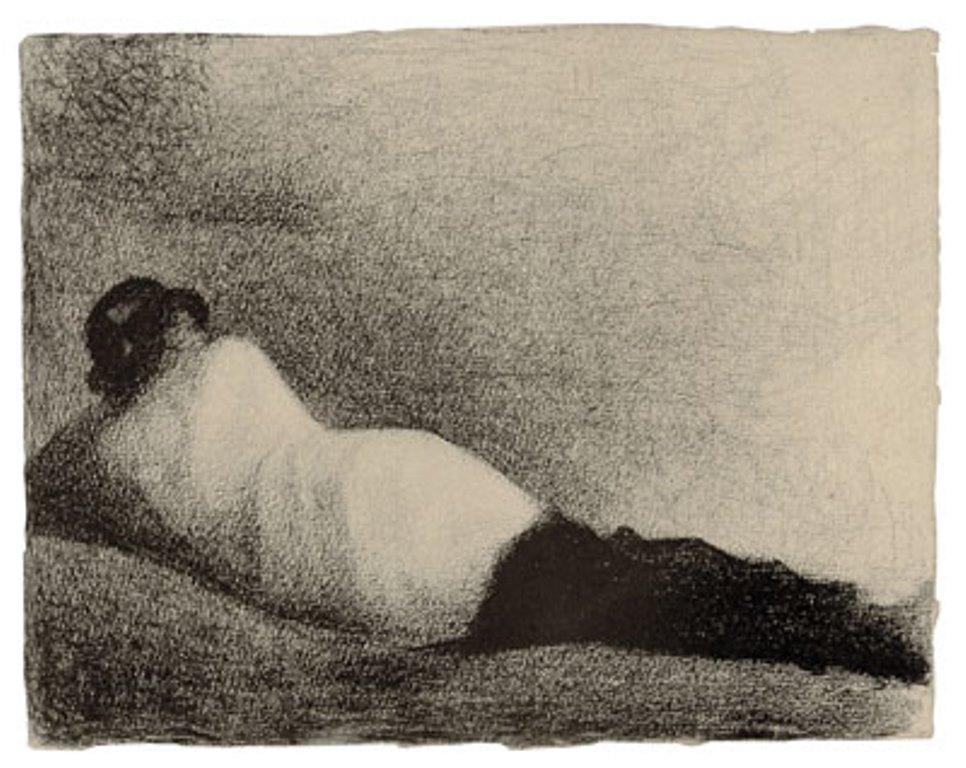 Georges Seurat. L'homme couché 1883-1884